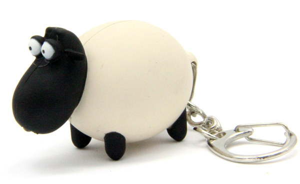 HL2004-2 / Black Sheep Light up Keychain with Sound
